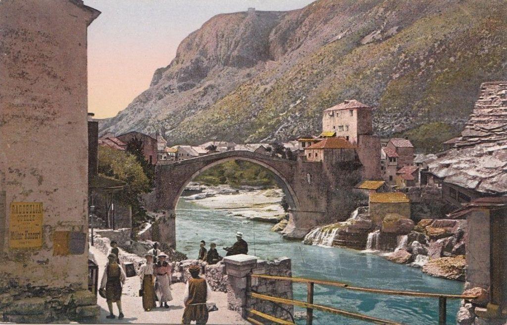 Мостар в начале 20-го века. Pacher & Kisic, Public Domain