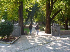 Парадный вход в парк. Со львами. Фото: Елена Арсениевич, CC BY-SA 3.0