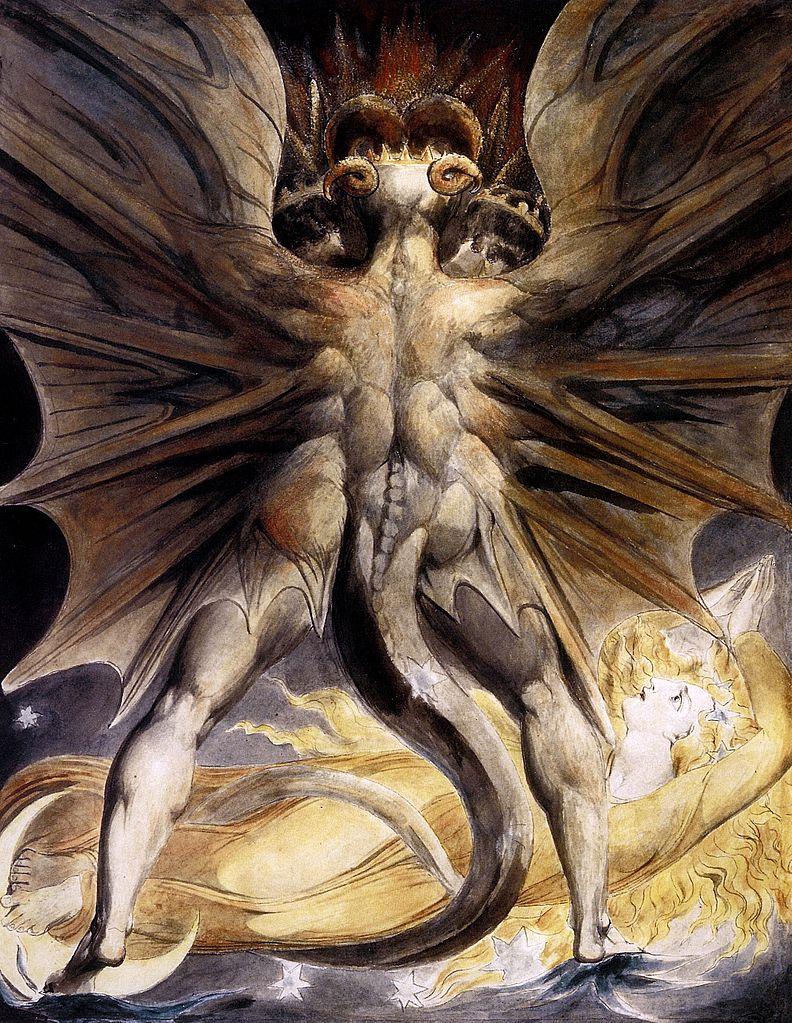 Говорят, змаи иногда получаются из баранов. William Blake, Public Domain