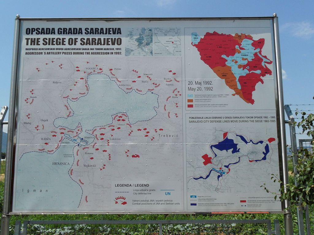 Схема осады Сараева. Фото: BiHVolim, CC-BY-SA-4.0