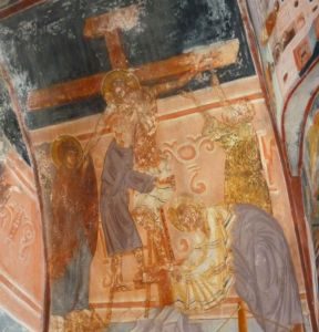 Снятие с креста, фреска кисти Георгия Митрофановича. Фото: Елена Арсениевич, CC BY-SA 3.0