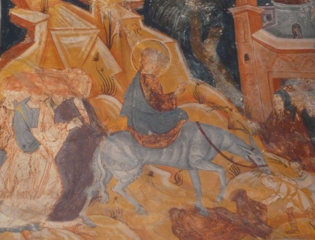 Вход Господень в Иерусалим, фреска Георгия Митрофановича. Фото: Елена Арсениевич, CC BY-SA 3.0