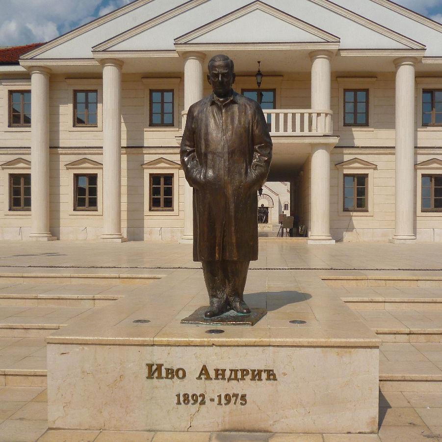 Памятник Иво Андричу. Фото: Елена Арсениевич, CC BY-SA 3.0