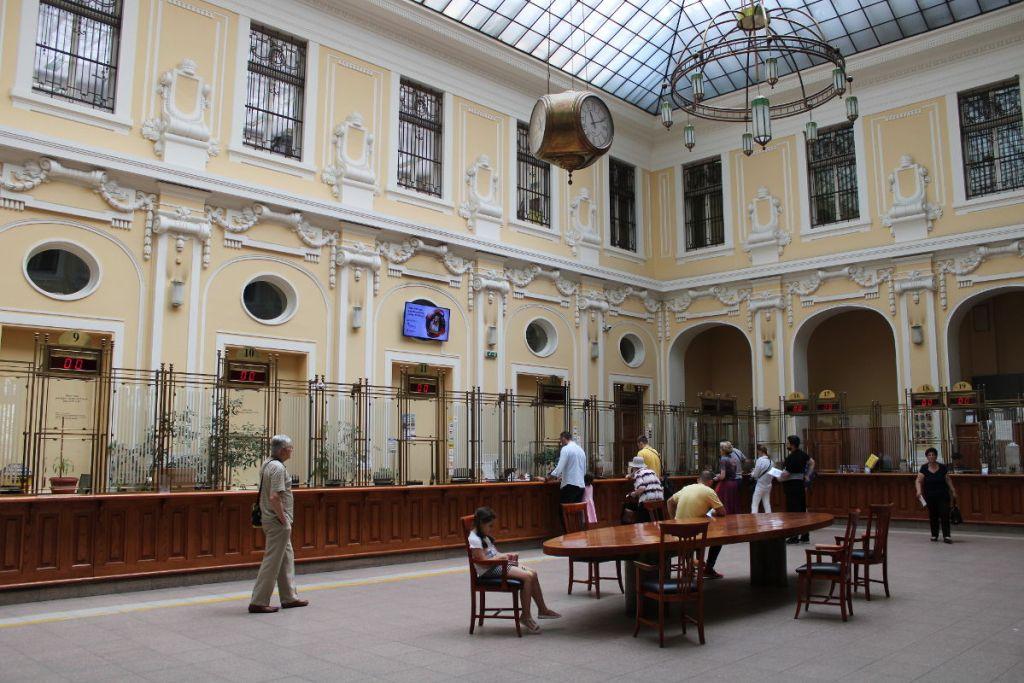 Зал Главной почты. Фото: Елена Арсениевич, CC BY-SA 3.0