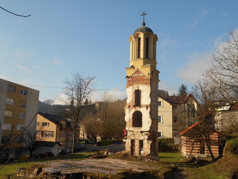 Остатки православной церкви в Яйце. Фото: Елена Арсениевич, CC BY-SA 3.0