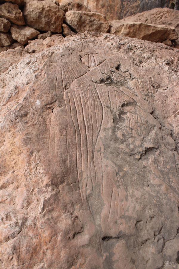 Гравюра в пещере Бадань. Фото: Елена Арсениевич, CC BY-SA 3.0