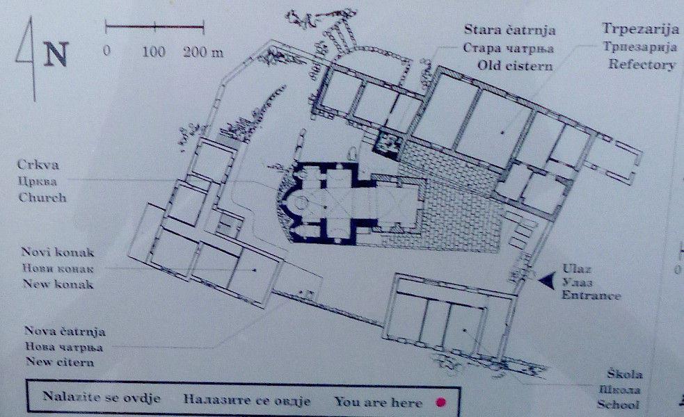 Схема монастыря. Фото: Елена Арсениевич, CC BY-SA 3.0