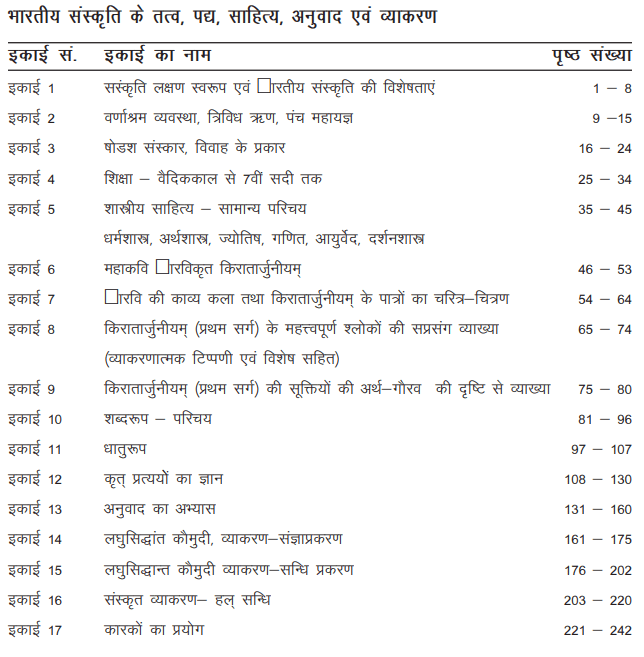 BA First Year Sanskrit Book by VMOU