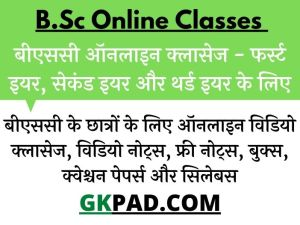 BSC Online Classes 2021-22 For 1st, 2nd & 3rd Year