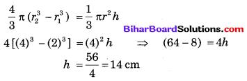 Bihar Board Class 10 Maths Solutions Chapter 13 पृष्ठीय क्षेत्रफल एवं आयतन Additional Questions SAQ 15