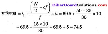 Bihar Board Class 10 Maths Solutions Chapter 14 सांख्यिकी Additional Questions SAQ 12.2