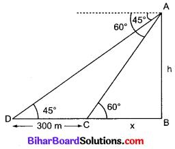 Bihar Board Class 10 Maths Solutions Chapter 9 त्रिकोणमिति के कुछ अनुप्रयोग Additional Questions LAQ 11