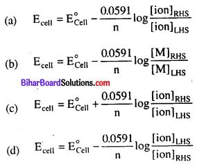 Bihar Board 12th Chemistry Objective Answers Chapter 3 Electrochemistry 3