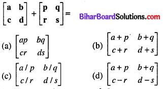 Bihar Board 12th Maths Model Question Paper 1 in Hindi Medium MCQ Q12