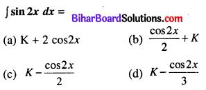 Bihar Board 12th Maths Model Question Paper 1 in Hindi Medium MCQ Q25