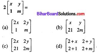 Bihar Board 12th Maths Model Question Paper 1 in Hindi Medium MCQ Q8