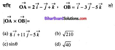 Bihar Board 12th Maths Objective Answers Chapter 10 सदिश बीजगणित Q23
