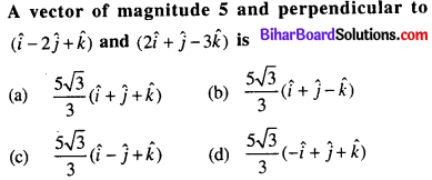 Bihar Board 12th Maths Objective Answers Chapter 10 Vector Algebra Q44
