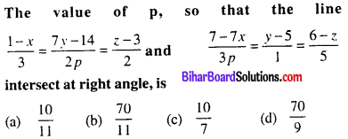 Bihar Board 12th Maths Objective Answers Chapter 11 Three Dimensional Geometry Q36