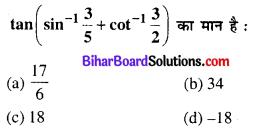 Bihar Board 12th Maths Objective Answers Chapter 2 प्रतिलोम त्रिकोणमितीय फलन Q24