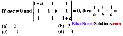 Bihar Board 12th Maths Objective Answers Chapter 4 Determinants Q5