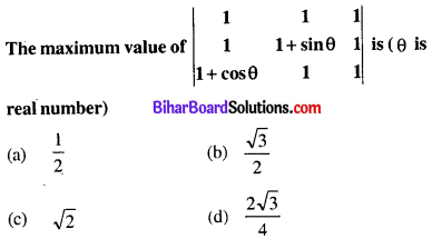 Bihar Board 12th Maths Objective Answers Chapter 4 Determinants Q54