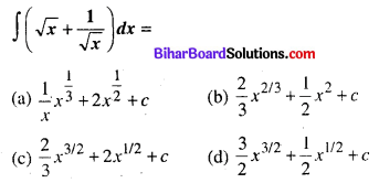 Bihar Board 12th Maths Objective Answers Chapter 7 समाकलन Q11