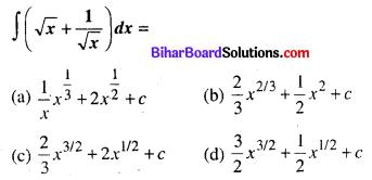 Bihar Board 12th Maths Objective Answers Chapter 7 समाकलन Q11