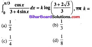 Bihar Board 12th Maths Objective Answers Chapter 7 समाकलन Q62