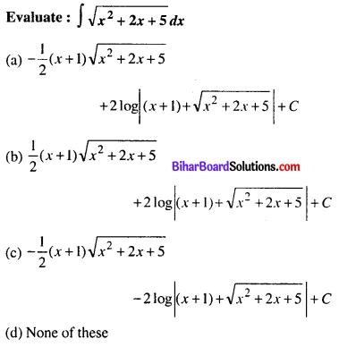 Bihar Board 12th Maths Objective Answers Chapter 7 Integrals Q20