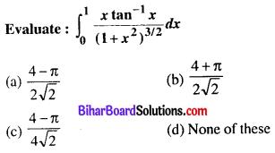 Bihar Board 12th Maths Objective Answers Chapter 7 Integrals Q28