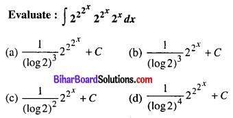 Bihar Board 12th Maths Objective Answers Chapter 7 Integrals Q4