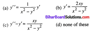 Bihar Board 12th Maths Objective Answers Chapter 9 Differential Equations Q15