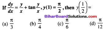 Bihar Board 12th Maths Objective Answers Chapter 9 Differential Equations Q45