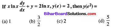 Bihar Board 12th Maths Objective Answers Chapter 9 Differential Equations Q58