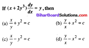 Bihar Board 12th Maths Objective Answers Chapter 9 Differential Equations Q61
