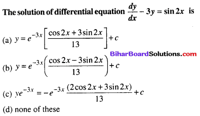 Bihar Board 12th Maths Objective Answers Chapter 9 Differential Equations Q63
