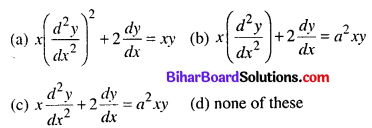 Bihar Board 12th Maths Objective Answers Chapter 9 Differential Equations Q7