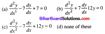 Bihar Board 12th Maths Objective Answers Chapter 9 Differential Equations Q9