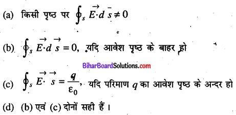 Bihar Board 12th Physics Objective Answers Chapter 1 वैद्युत आवेश तथा क्षेत्र - 8