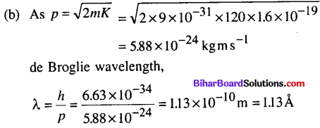 Bihar Board 12th Physics Objective Answers Chapter 11 Dual Nature of Radiation and Matter - 12