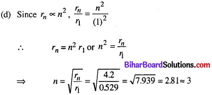 Bihar Board 12th Physics Objective Answers Chapter 12 Atoms in english medium 14