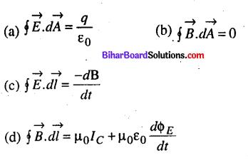 Bihar Board 12th Physics Objective Answers Chapter 8 वैद्युत चुम्बकीय तरंगें - 1