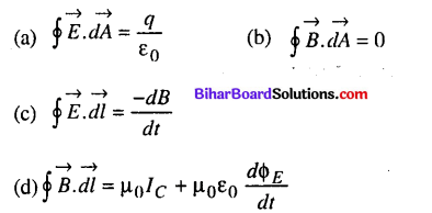 Bihar Board 12th Physics Objective Answers Chapter 8 Electromagnetic Waves - 1