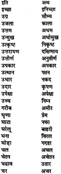 Bihar Board Class 11th Hindi व्याकरण पर्यायवाची शब्द 1