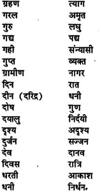 Bihar Board Class 11th Hindi व्याकरण पर्यायवाची शब्द 3