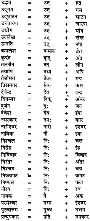 Bihar Board Class 11th Hindi व्याकरण संधि 1