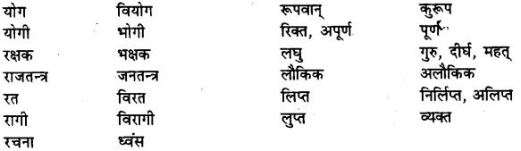 Bihar Board Class 12th Hindi व्याकरण विलोम या विपरीतार्थक शब्द 14