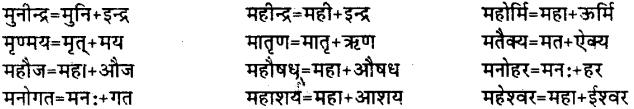 Bihar Board Class 12th Hindi व्याकरण संधि 20