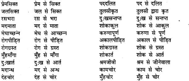 Bihar Board Class 12th Hindi व्याकरण समास 6
